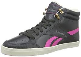 reebok high tops womens. reebok royal aspire, women\u0027s hi-top sneakers, black (gravel/charged pink high tops womens