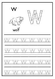 Lowercase letter w worksheet - Preschool Crafts