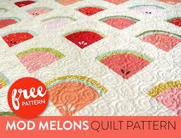 Mod Melons Free Quilt Pattern - Suzy Quilts & Watermelon-Free-Quilt-Pattern Adamdwight.com