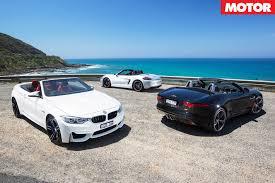 BMW M4 Convertible vs Jaguar F-Type V6 S vs Porsche Boxster GTS ...