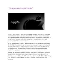 Resumen Video Steve Jobs Steve Jobs Vila Srbija