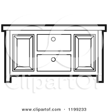 cupboard clipart black and white. black and white sideboard cabinet by lal perera cupboard clipart