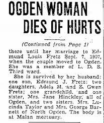 Ogden Woman Dies of Hurts; Effie Montgomery Fretz - Newspapers.com