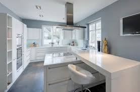 grey wall kitchen home contemporary kitchens decorating ideas