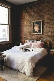 brick wall gives a more masculine feel to the space