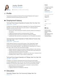 12 Technical Phone Support Resume Sample S 2018 Free Downloads With