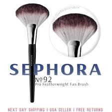 details about sephora collection pro featherweight fan brush 92 free 24 hour shipping p