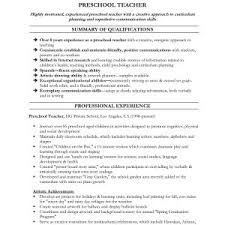 Inspirationa Sample Resume For Assistant Teacher In Preschools