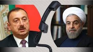 Image result for روحانی در تماس تلفنی با رئیسجمهور آذربایجان