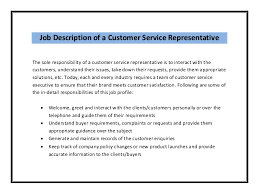 Customer Service Resume Job Description Kordurmoorddinerco Extraordinary Customer Service Description For Resume