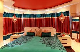 home decor bedroom colors. view in gallery warm, bright colors and lanterns shape a stunning moroccan bedroom. by toni crockett design home decor bedroom t