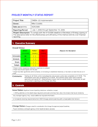 Monthly Report Template Word project status Londabritishcollegeco 25