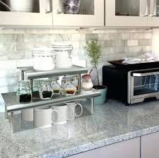 over the counter shelf counter space classy inspiration shelves brilliant ideas best organization images on home kitchen storage countertop shelf display