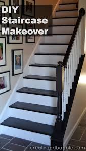 diy staircase makeover is easier than you may think paint staircase risers and stain stair