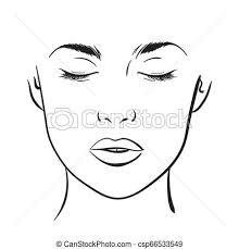 Blank Face Charts To Print Face Chart Makeup Artist Blank Template