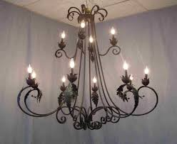 wrought iron chandelier style