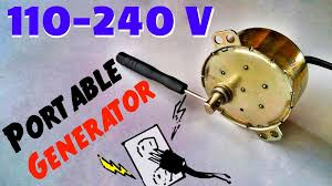 picture of diy 240v ac power generator for emergency portable ac hand crank