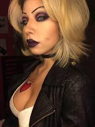 her make up skills are simply amazing she did the bride of chucky so well bride