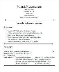 Industrial Maintenance Resume Samples Industrial Maintenance