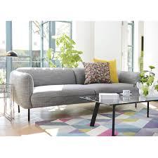 valletta three seater sofa dark grey