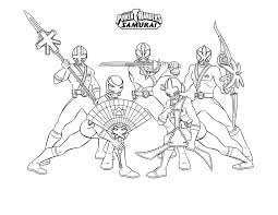 Samurai Power Rangers Coloring Pages For Boys Super Heroes