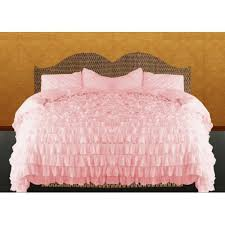 Waterfall Ruffle Duvet Covers Pink 1000TC Egyptian Cotton All Sizes