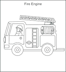 Pictures Of Fire Trucks To Color Fire Truck Coloring Pages Coloring
