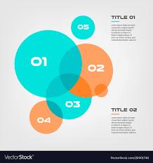 Elements Of A Venn Diagram Bubble Chart With Elements Venn Diagram Royalty Free Vector