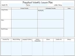 Lesson Plans Blank Template Creative Curriculum For Preschool Lesson Plan Template