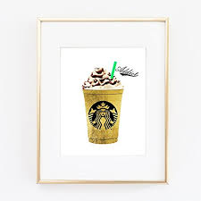 starbucks gold foil coffee print wall art home office home decor bedroom kids baby decor wall on starbucks coffee wall art with amazon starbucks gold foil coffee print wall art home office
