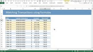 excel reconciliation template matching transactions reconciling using excel pivot tables