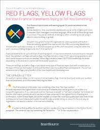 Financial Statement Cover Letter Nonprofit Financial Statements Boardsource