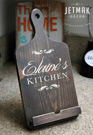 Kitchen Tablet Holder Personalized Cutting Board Ipad Stand Tablet Stand Wooden Kindle