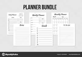 Daily Goals Template Planners Bundle Daily Weekly Monthly Planner To Do List