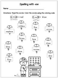 Covering, letters of the alphabet. Spelling Words With Ew Phonics Worksheets And Sort Distance Learning