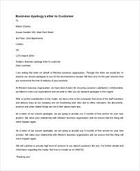 Business Apology Letter For Poor Customer Service Sample Business Apology Letter 7 Documents In Pdf Word