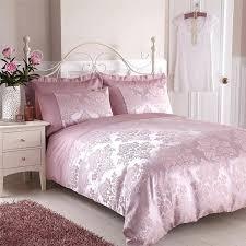 pink duvet cover dusty dusky washed linen