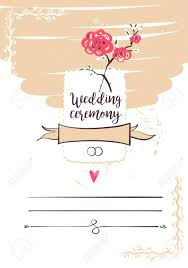 Ceremony Template Wedding Ceremony Template Banner Poster Invitation Card Logo