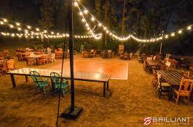 Backyard Wedding Market Lights Brilliant Event Lighting