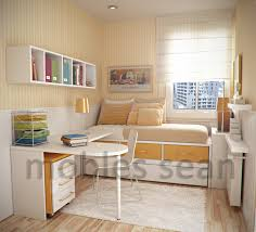 Single Bedroom Small Windows Blind Multifunction Transform To Sofa Simple Wooden Study
