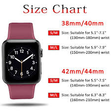 Apple Watch 4 Band Compatibility Chart Atup Sport Band Compatible With Apple Watch 38mm 40mm 42mm
