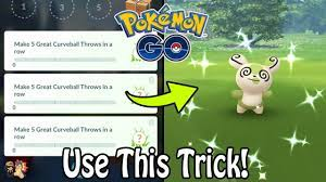 Patched* How To EASILY Hit 5 Great Curveball Throws In A Row In Pokémon GO!