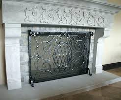 decorative fireplace screens custom accessories fire for gas fireplaces corner screen screened porch decorat