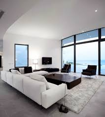 White Living Room Table Sets 30 Black White Living Rooms That Work Their Monochrome Magic