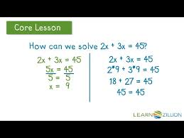 solve linear equations by combining like terms learnzillion foxy solving equations with rational coefficients linear 7th grade math worksheets maxresde