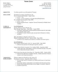 occupational therapy resume. Vocational Rehabilitation Counselor Resume Therapist Resume Examples