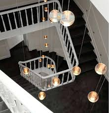 led stairwell lighting. Stairwell Lighting Duplex House Novelty Led Pendant Lights  Staircase Large Crystal Ball Strip .