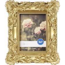 mainstays 5x7 baroque picture frame gold photo family decor wall table gallery