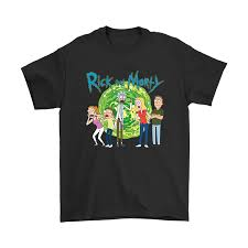 Rick And Morty Family Group Portal With Logo Shirts