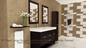 48 rigel large double sink modern bathroom vanity cabinet